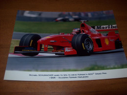 Old Photography - F1, Ferrari, Scuderia Driver Marlboro, Michael Schumacher, 15 X 21 Cm - Sport