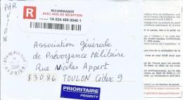 Reunion 2009 St. Pierre Unfranked Barcoded AR Avis De Reception Registered Cover - Réunion (1852-1975)