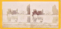 Vieille Photo Stereoscopique Château De Rougemont Thoune Suisse Stereo Vintage Albumine Vers  1870 - Stereoscopic