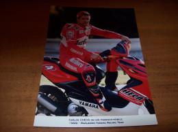 Old Photography - Moto Sport, Marlboro Yamaha Racing Team, Carlos Checa,   15 X 21 Cm - Sport
