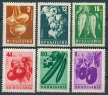 BULGARIA 1958 FLORA Plants VEGETEABLES - Fine Set MNH - Vegetables
