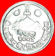 ★FLOWER: NEPAL ★ 1 PAISA 2028 (1971)! LOW START★NO RESERVE! Mahendra Bir Bikram (1955-1972) - Népal