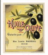 Etiquette Huile D'Olive Ets Louis Barral, Nice - Imp. Gandini, Nice - - Etiketten