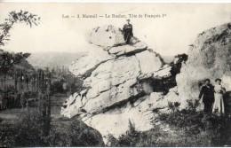 46. Mareuil. Le Rocher, Tete De François 1er - France
