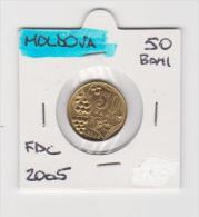 MOLDAVIA   50 BANI  ANNO 2000 FDC - Moldavia