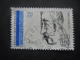 France N°2685 Poete Français JACQUES PREVERT Oblitéré - Celebridades