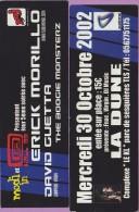 Marque-page °° Hall 38 NRJ 2002 Présentent Grick Morillo & David Guetta à Toulouse Complexe La Dune  5x15 - Marque-Pages