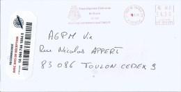 """Martinique 2012 Fort De France 33eme Regiment D'Infanterie De Marine RIM Pitney Bowes """"A/B900"""" BE 807277 AR Registered - Martinique (1886-1947)"""