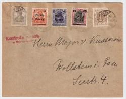 Polen, 1919, Mischfrankatur, Zensur-Stp. , #4857 - ....-1919 Übergangsregierung