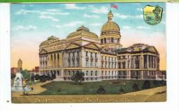 CPA-CARTE EN RELIEF-ETATS-UNIS-INDIANA-INDIANAPOLIS-CAPITOL BUILDING- - Indianapolis