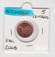 MOZAMBICO   5 CENTAVOS   ANNO 2006 FDC - Mozambico