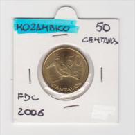 MOZAMBICO   50 CENTAVOS   ANNO 2006 FDC - Mozambico