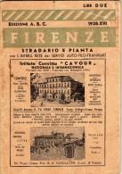 FIRENZE-STRADARIO E PIANTA RETE DEI SERVIZI AUTO-FILO-TRANVIARI-1938 - Europa