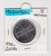 MOZAMBICO   5 METICAIS   ANNO 2006 FDC - Mozambico
