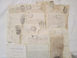 Parchemins  Lots De Divers Parchemins(une Douzaine) Et Courriers (2) Plusieurs Tampons Généralités Voir Scans - Vieux Papiers
