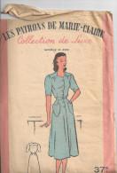 """Ancien Patron """"Les Patrons De Marie Claire"""" N°4068 Collection De Luxe, Années 50-60 ?, Pochette Et Patron - Patrons"""