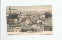 A BUSY DAY, QUEEN STREET , WHARF AUCKLAND  N Z (1556)     1908 - New Zealand