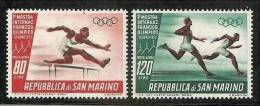 1955 San Marino Saint Marin OLIMPICI  OLYMPICS Serie Aerea Di 2v. MNH**  Air Mail - Giochi Olimpici