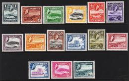1953-1956. Landscape Queen Elisabeth II. Complete Set With 15 Stamps.  (Michel: 101-115) - JF190499 - Antigua Und Barbuda (1981-...)