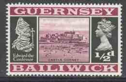 Guernsey Bailiwick 1969 Mi 8 YT 1 Sc 8 ** Castle Cornet, Edward The Confessor (1042-1066) / Schloss / Chateau / Kasteel - Kastelen
