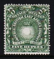 1890. IMPERIAL BRITISH EAST AFRICA COMPANY. Sun. FIVE RUPEES.  (Michel: 21A) - JF190573 - Briefmarken