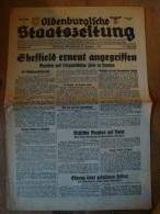 Oldenburgische Staatszeitung, 18.12.40, Sheffield Erneut Angegriffen ! - Revues & Journaux
