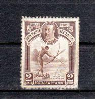 Guyane YT 143 Obl : Pêche à L'arc - 1934 - Guyane Britannique (...-1966)