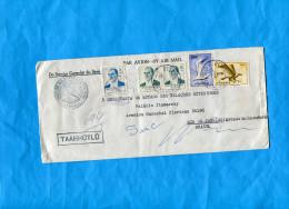 MARCOPHILIE-lettre-REC TURQUIE-cad Beyoglu Consulat  Brasil Pour BRASIL Aff Composé 5 Stamps - 1921-... Republic