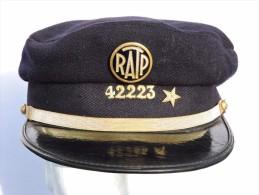BELLE CASQUETTE METRO  RATP   - VILLE De PARIS  Années 1950-1960  #.2 - Railway