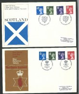 1974. FIRST DAY COVER   DEFINITIVE  VALUES    OF  SCOTLAND AND NOTHERN  IRELAND - 1952-.... (Elizabeth II)