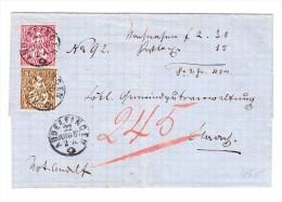 Heimat ZH ANDELFINGEN 22.6.1867 5 Und 10Rp. Sitzende Helvetia Auf Brief - Lettres & Documents