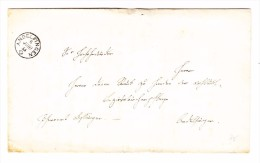 Heimat ZH ANDELFINGEN 6.6.1855 Fingerhut Stempel Auf Brief - 1854-1862 Helvetia (Non-dentelés)