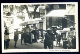 Cpa Carte Photo De Chine -- Hong Kong Sedan Chairs  JAN16 1 - Chine