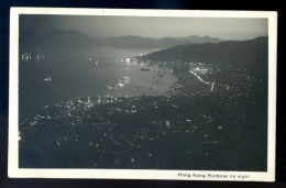 Cpa Carte Photo De Chine -- Hong Kong , Harbour By Night   --   JAN16 1 - Chine