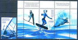 TH Belarus 2001 Water Sport Windsurfing 1v+ Bl. S/S MNH