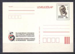 Hungary Postal Stationery Card  Jendrassik Lorand , Clinical Chemistry Congress Budapest  1983  Unused - Medicine