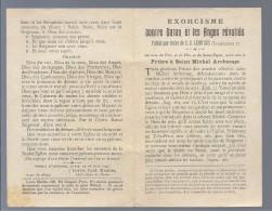 RELIGITION - Exorcisme Contre Satan Et Les Anges Révoltés, Prière à Saint Michel Archange 1922 S.S. CARD. DUBOIS PARIS - Santini