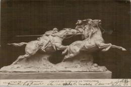 LANCIER  DE  FLORENCE  EN  TRIPOLITAINE  (D. MASTROIANNI)  2 SCAN  (VIAGGIATA) - Sculture