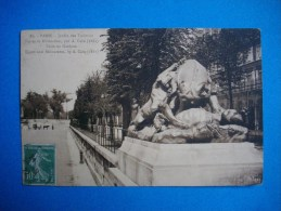 PARIS  -  75  -  Jardin Des Tuileries  -  Tigres Et Rhinocéros - Parks, Gärten
