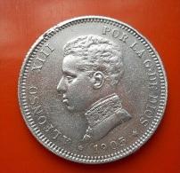 Spain 2 Pesetas 1905 Silver - [ 1] …-1931 : Regno