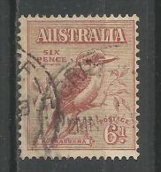 Kookaburra 6p Brun Rouge - Oblitérés