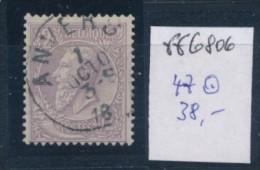 Belgien Nr. 47  O  ( Ff6806  ) Siehe Scan ! - 1893-1900 Schmaler Bart