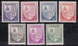 Andorre 1944-1946 N°Y.T. :  93 à 99 **