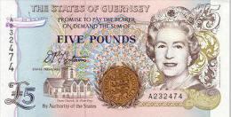 Guernsey 5 Pounds (1996) Pick 56 UNC - Guernsey