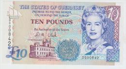Guernsey 10 Pounds (1995) Pick 57 UNC - Guernsey