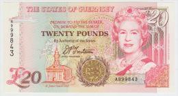 Guernsey 20 Pounds (1996) Pick 58 UNC - Guernsey