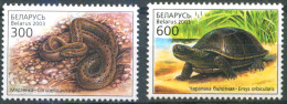 _TH Belarus 2003 Reptiles 2v MNH - Serpientes