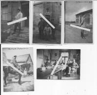 Athis Sous Laon Maison Bleue 1916 Officiers Allemands FAR25 Et 27 Au Mess Occupation Allemande 5 Photos Ww1 - War, Military