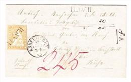 Heimat ZH FLAACH Balkenstempel 23.4.1861 Andelfingen Auf Amts Brief - Lettres & Documents