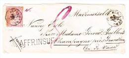 Heimat ZH HERRLIBERG 25.7.1861 Strubel 15Rp. AFFR.INSUF. Auf Brief Nach Champagne VD - Lettres & Documents